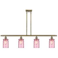 Innovations Lighting 516-4I-AB-G352-LIL Candor 4 Light 48 inch Antique Brass Island Light Ceiling Light, Ballston