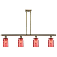 Innovations Lighting 516-4I-AB-G352-RD Candor 4 Light 48 inch Antique Brass Island Light Ceiling Light, Ballston