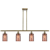 Innovations Lighting 516-4I-AB-G352-TOF Candor 4 Light 48 inch Antique Brass Island Light Ceiling Light, Ballston