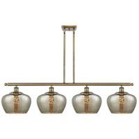 Innovations Lighting 516-4I-AB-G96-L-LED Large Fenton LED 48 inch Antique Brass Island Light Ceiling Light Ballston