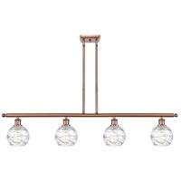 Innovations Lighting 516-4I-AC-G1213-6-LED Small Deco Swirl LED 46 inch Antique Copper Island Light Ceiling Light Ballston