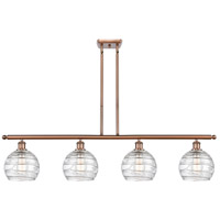 Innovations Lighting 516-4I-AC-G1213-8 Deco Swirl 4 Light 48 inch Antique Copper Island Light Ceiling Light Ballston