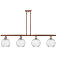 Innovations Lighting 516-4I-AC-G1214-8-LED Twisted Swirl LED 48 inch Antique Copper Island Light Ceiling Light Ballston