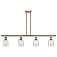 Innovations Lighting 516-4I-AC-G259-LED Caledonia LED 48 inch Antique Copper Island Light Ceiling Light Ballston