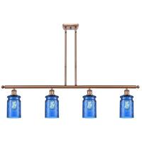 Innovations Lighting 516-4I-AC-G352-BL Candor 4 Light 48 inch Antique Copper Island Light Ceiling Light Ballston