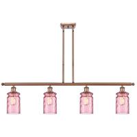 Innovations Lighting 516-4I-AC-G352-LIL Candor 4 Light 48 inch Antique Copper Island Light Ceiling Light Ballston