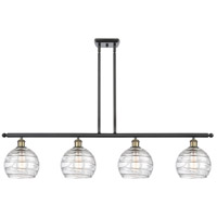 Innovations Lighting 516-4I-BAB-G1213-8 Deco Swirl 4 Light 48 inch Black Antique Brass Island Light Ceiling Light Ballston