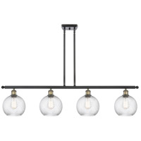 Innovations Lighting 516-4I-BAB-G1214-8-LED Twisted Swirl LED 48 inch Black Antique Brass Island Light Ceiling Light Ballston