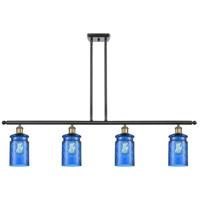 Innovations Lighting 516-4I-BAB-G352-BL-LED Candor LED 48 inch Black Antique Brass Island Light Ceiling Light, Ballston