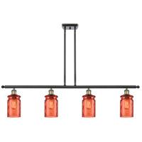 Innovations Lighting 516-4I-BAB-G352-COR Candor 4 Light 48 inch Black Antique Brass Island Light Ceiling Light Ballston