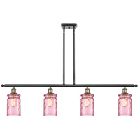 Innovations Lighting 516-4I-BAB-G352-LIL Candor 4 Light 48 inch Black Antique Brass Island Light Ceiling Light Ballston