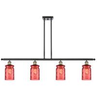 Innovations Lighting 516-4I-BAB-G352-RD Candor 4 Light 48 inch Black Antique Brass Island Light Ceiling Light Ballston