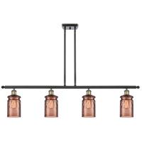 Innovations Lighting 516-4I-BAB-G352-TOF Candor 4 Light 48 inch Black Antique Brass Island Light Ceiling Light Ballston