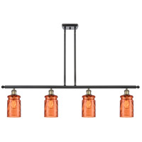 Innovations Lighting 516-4I-BAB-G352-TUR Candor 4 Light 48 inch Black Antique Brass Island Light Ceiling Light, Ballston