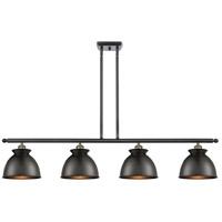 Innovations Lighting 516-4I-BAB-M14-BK-LED Adirondack LED 48 inch Black Antique Brass Island Light Ceiling Light, Ballston