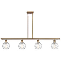 Innovations Lighting 516-4I-BB-G1213-6-LED Small Deco Swirl LED 46 inch Brushed Brass Island Light Ceiling Light Ballston