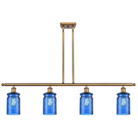Innovations Lighting 516-4I-BB-G352-BL Candor 4 Light 48 inch Brushed Brass Island Light Ceiling Light Ballston