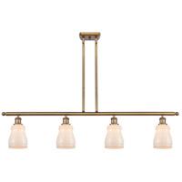 Innovations Lighting 516-4I-BB-G391 Ellery 4 Light 48 inch Brushed Brass Island Light Ceiling Light, Ballston