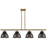 Innovations Lighting 516-4I-BB-M14-BK Adirondack 4 Light 48 inch Brushed Brass Island Light Ceiling Light, Ballston