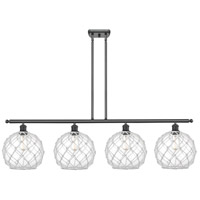Innovations Lighting 516-4I-BK-G122-10RW Large Farmhouse Rope 4 Light 48 inch Matte Black Island Light Ceiling Light Ballston