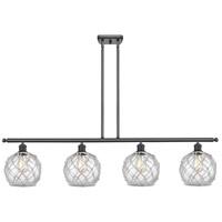 Innovations Lighting 516-4I-BK-G122-8RW-LED Farmhouse Rope LED 48 inch Matte Black Island Light Ceiling Light Ballston