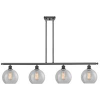 Innovations Lighting 516-4I-BK-G125-LED Athens LED 48 inch Matte Black Island Light Ceiling Light Ballston
