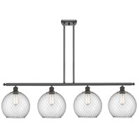 Innovations Lighting 516-4I-OB-G122-10CSN Large Farmhouse Chicken Wire 4 Light 48 inch Oil Rubbed Bronze Island Light Ceiling Light Ballston