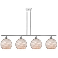 Innovations Lighting 516-4I-PC-G121-10CBK Large Farmhouse Chicken Wire 4 Light 48 inch Polished Chrome Island Light Ceiling Light Ballston