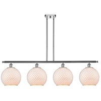 Innovations Lighting 516-4I-PC-G121-10CSN Large Farmhouse Chicken Wire 4 Light 48 inch Polished Chrome Island Light Ceiling Light Ballston