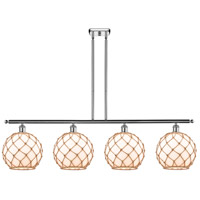 Innovations Lighting 516-4I-PC-G121-10RB Large Farmhouse Rope 4 Light 48 inch Polished Chrome Island Light Ceiling Light Ballston