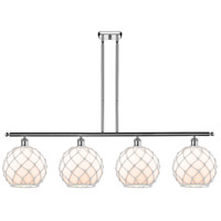 Innovations Lighting 516-4I-PC-G121-10RW Large Farmhouse Rope 4 Light 48 inch Polished Chrome Island Light Ceiling Light Ballston