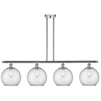 Innovations Lighting 516-4I-PC-G122-10CBK Large Farmhouse Chicken Wire 4 Light 48 inch Polished Chrome Island Light Ceiling Light, Ballston
