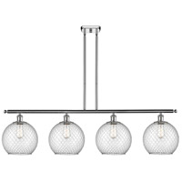 Innovations Lighting 516-4I-PC-G122-10CSN Large Farmhouse Chicken Wire 4 Light 48 inch Polished Chrome Island Light Ceiling Light Ballston