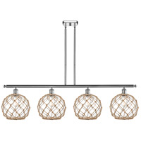 Innovations Lighting 516-4I-PC-G122-10RB Large Farmhouse Rope 4 Light 48 inch Polished Chrome Island Light Ceiling Light Ballston