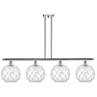 Innovations Lighting 516-4I-PC-G122-10RW Large Farmhouse Rope 4 Light 48 inch Polished Chrome Island Light Ceiling Light Ballston