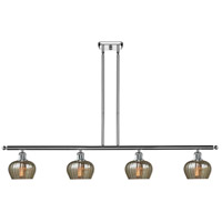 Innovations Lighting 516-4I-PC-G96 Fenton 4 Light 42 inch Polished Chrome Island Light Ceiling Light