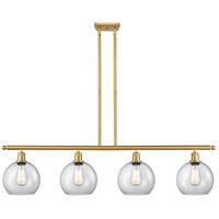 Innovations Lighting 516-4I-SG-G122-LED Athens LED 48 inch Satin Gold Island Light Ceiling Light Ballston