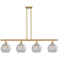 Innovations Lighting 516-4I-SG-G125 Athens 4 Light 48 inch Satin Gold Island Light Ceiling Light Ballston