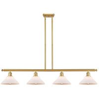Innovations Lighting 516-4I-SG-G131 Orwell 4 Light 48 inch Satin Gold Island Light Ceiling Light Ballston