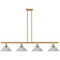 Innovations Lighting 516-4I-SG-G132 Orwell 4 Light 48 inch Satin Gold Island Light Ceiling Light Ballston