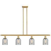 Innovations Lighting 516-4I-SG-G257 Caledonia 4 Light 48 inch Satin Gold Island Light Ceiling Light Ballston