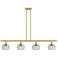 Innovations Lighting 516-4I-SG-G92 Fenton 4 Light 48 inch Satin Gold Island Light Ceiling Light Ballston