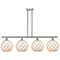 Innovations Lighting 516-4I-SN-G121-10RB Large Farmhouse Rope 4 Light 48 inch Brushed Satin Nickel Island Light Ceiling Light Ballston