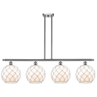 Innovations Lighting 516-4I-SN-G121-10RW Large Farmhouse Rope 4 Light 48 inch Brushed Satin Nickel Island Light Ceiling Light Ballston