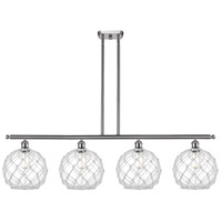 Innovations Lighting 516-4I-SN-G122-10RW Large Farmhouse Rope 4 Light 48 inch Brushed Satin Nickel Island Light Ceiling Light Ballston