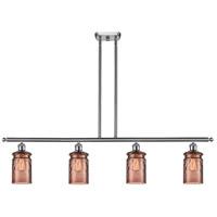 Innovations Lighting 516-4I-SN-G352-TOF Candor 4 Light 48 inch Satin Nickel Island Light Ceiling Light Ballston