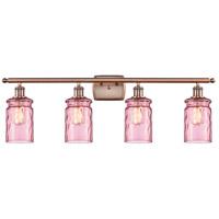Innovations Lighting 516-4W-AC-G352-LIL Candor 4 Light 36 inch Antique Copper Bath Vanity Light Wall Light, Ballston