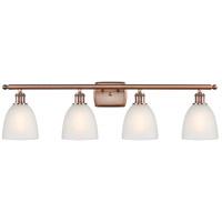 Innovations Lighting 516-4W-AC-G381-LED Castile LED 36 inch Antique Copper Bath Vanity Light Wall Light Ballston
