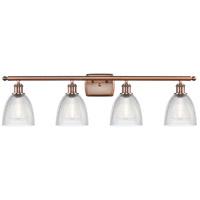 Innovations Lighting 516-4W-AC-G382-LED Castile LED 36 inch Antique Copper Bath Vanity Light Wall Light Ballston