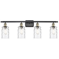 Innovations Lighting 516-4W-BAB-G352-LED Candor LED 36 inch Black Antique Brass Bath Vanity Light Wall Light, Ballston